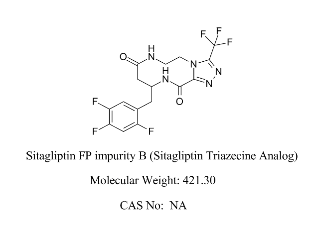 Featured Product Sitagliptin FP Impurity B available at pharmACE Research Laboratory(www.pharmaceresearch.com)